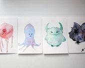 1 Little Monster Mini Art Print ACEO