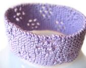 Lavender Eyelet Clusters Lace Bracelet