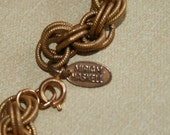"""Marked Miriam Haskell Chain Necklace 48"""" Long"""