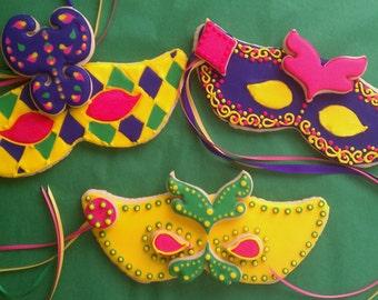 3 - Masquerade Ball Cookie Masks