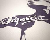 Papercut Girl - handmade papercut