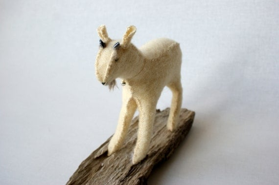 little goat . Wool animal / sculpture