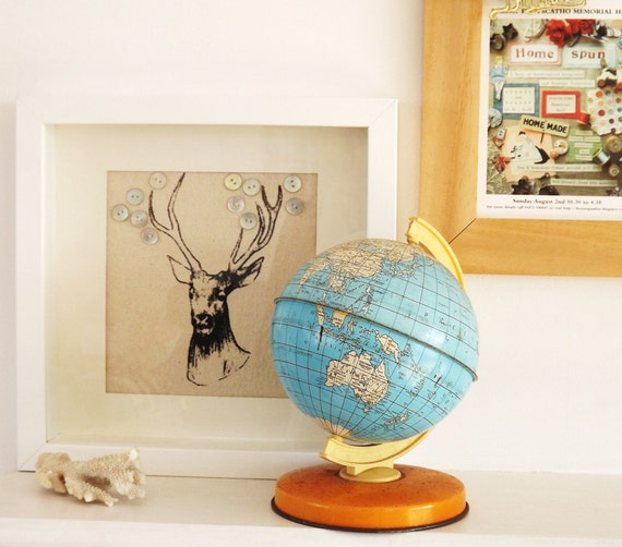 Handsome Stag screen print picture