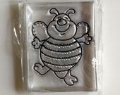 BumbleBee Lucite Rubber Stamp - New