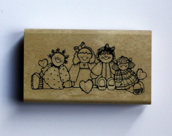 Rag Doll Rubber Stamp, Brand New