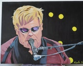Elton John  at the Beacon 18x24 inch Original Acrylic painting, Canvas US shipping included