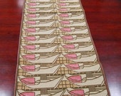 Pink Tulips Table Runner