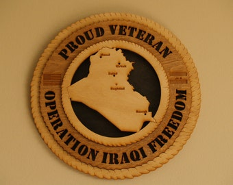 Operation Iraqi Freedom Wall Medallion