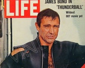 1960's James Bond - Cover only of 1966 Life Magazine - Sean Connery - 60's Hollywood Movie Star (7)