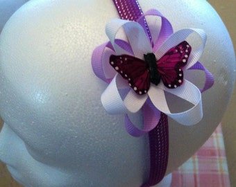 Purple Butterfly Headband