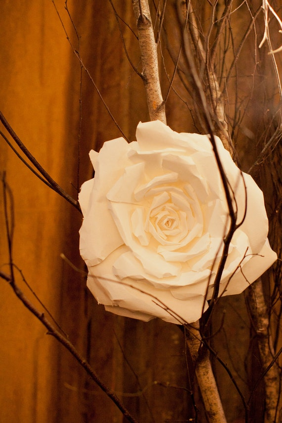 Handcrafted Large Paper Roses for Decor, Events & Window Displays