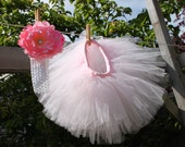 Pink Tutu Skirt With Headband