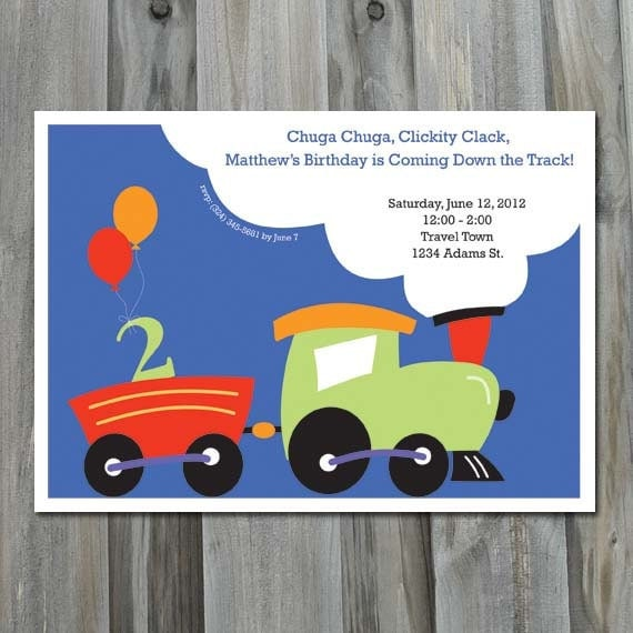 Train Birthday Party, Personalized, Party Printable, Printing Service Available, Train Birthday Invitation, Choo Choo