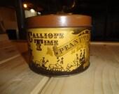Vintage Calliope Time Peanut Tin