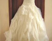 Custom Made Wedding Dress -- Inspired by Diana -- Organza Flange
