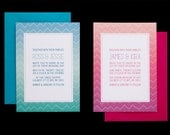 Funky Ombre Chevron any color A7 invitation and 4 bar rsvp card PRINTING DEPOSIT