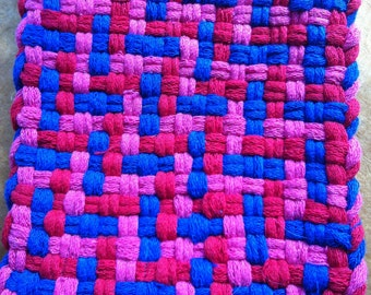 Red, Pink and Blue Pot Holder