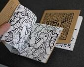 Olio squared - Handmade screen printed illustration book