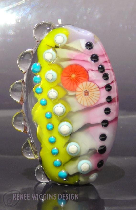 ON SALE Ambrosia Lampwork Glass Focal Bead by Renee Wiggins Design