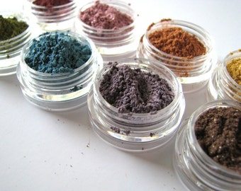 Mineral Makeup Sample  - Mineral Eyeshadow - Choose your colors - Choose three - Natural eye pigment - bath and beauty - pure natural makeup