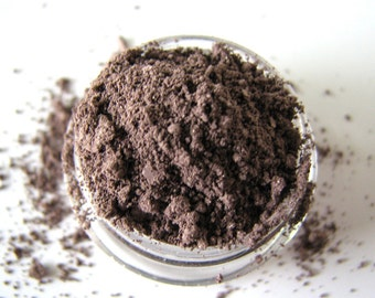 Baker's Chocolate - Mineral Eyeshadow - Mineral Makeup - Brown Mineral Eyeshadow - Bath and Beauty - Pure natural cosmetics