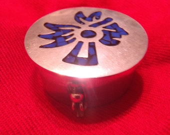 Taxco Sterling Silver Inlaid Box