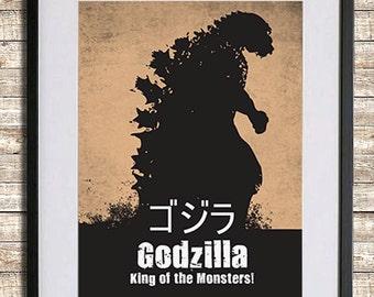 godzilla poster print - Godzilla Pictures To Print
