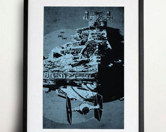 Star Wars Tie Fighter Poster Vintage Print