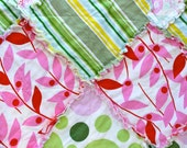 Nicey Jane by Heather Bailey Baby Rag Quilt - Spring- Play Mat- Ready to Ship