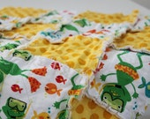 Michael Miller- Scuba Frog Security Rag Quilt- Ready to Ship