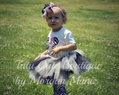 Wild About Minnie Mouse Zebra and Pink Birthday Photo Oufit Tutu Leg Warmers Ruffle Bloomers and OTT Bow Set