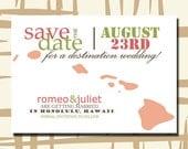 50 States Destination Wedding Save the Date Card (5x7) - Color Customizable