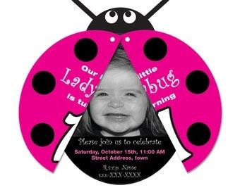 Ladybug Invitation (printed)