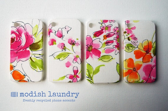 Custom Order for Aisha - Two Spring Colours iPhone Cases and One Striped Floral iPhone Case
