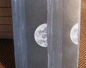 "Unique, Durable Hand-Held Notebooks bound in Rare Papers     ""Phases of the Moon"""
