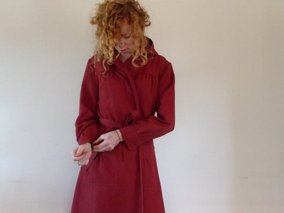 Persimmon Vintage Little Red Riding Hood Trench Coat