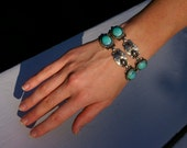 Silver and Turquoise Southwestern Bracelet