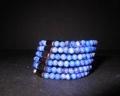 Sky Blue Quartz and Hematite Bracelet/ Necklace