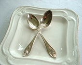 1847 Rogers Bros Old Colony, silver-plate. two teaspoons