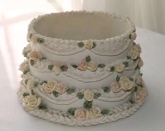 Candle holder,wedding cake pattern, birthday,bridal,cottage decor