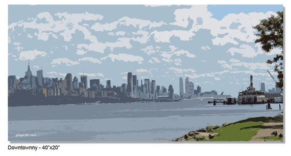 Downtown NY - Individual Imaging on Canvas Signed & Numbered LIMITED EDITION - Gordon Bayne