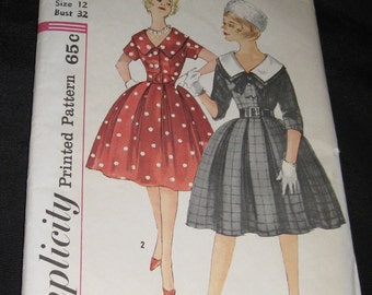 Vintage 1960s Simplicity 3794 Sewing Pattern Misses Junior Size 12 Formal Dress