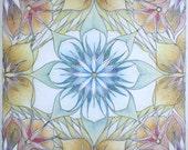 Sacred Fine Art Print - O Divine Mother Mandala 12x12