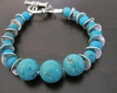33% OFF Turquoise Wavy Dividers Bracelet