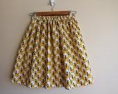 Womens Handmade Purple Yellow Skirt Size S-M