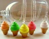 Fun Retro Ice-Cream Cone Necklace