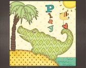 Framed Alligator: Play