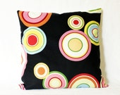 50% OFF - SET of TWO - Geometric Circles Pillow Cover - 18x18 Throw Pillows- 16x16 Cushion Covers