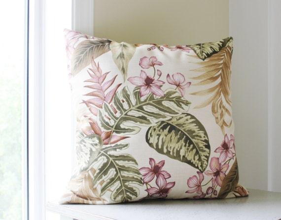 50%OFF - 2 Floral Pillow Covers - Purple Throw Pillows - Tropical - mauve pillow covers- woodland - 18x18 Cushion Covers - set of 2
