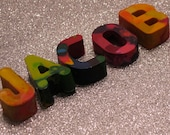 Alphabet Letter Crayons -- set of 5 -- Perfect for Names, Customization & Gifts